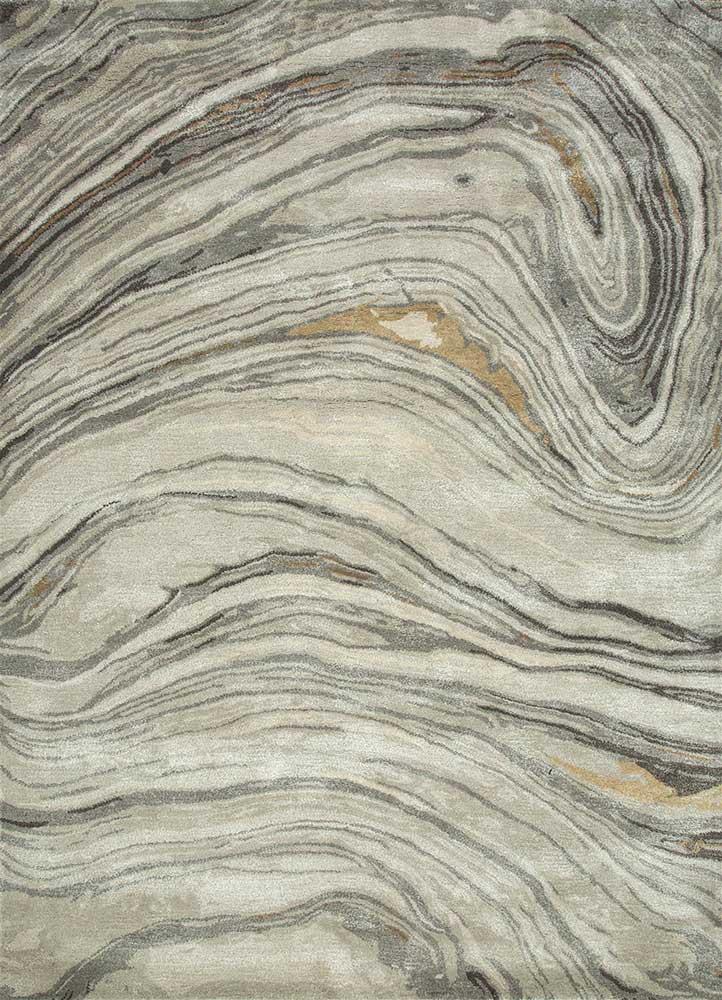 TAQ-4309 Classic Gray/Ashwood grey and black wool and viscose hand tufted Rug