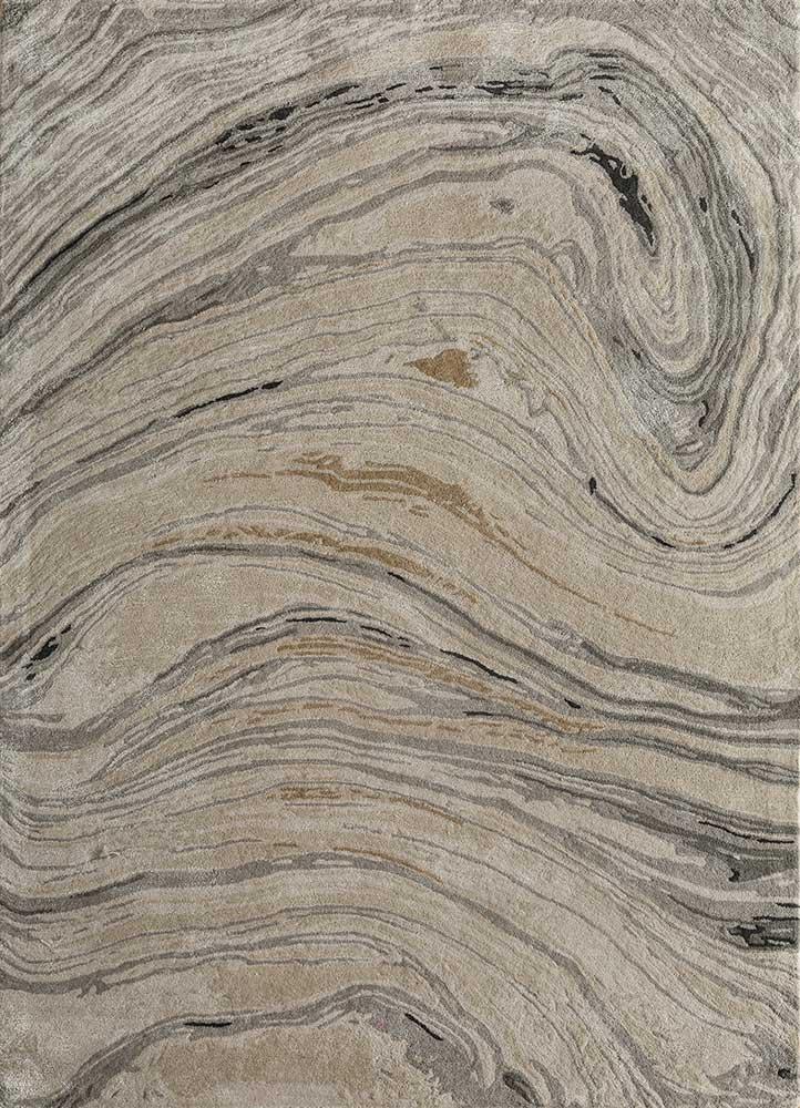 TAQ-4309 Dark Ivory/Ashwood ivory wool and viscose hand tufted Rug