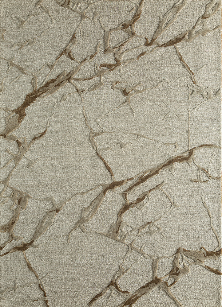 TAQ-4390 Antique White/Oyster ivory wool and viscose hand tufted Rug