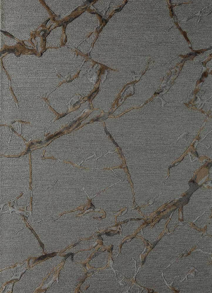TAQ-4390 Ashwood/Honey grey and black wool and viscose hand tufted Rug