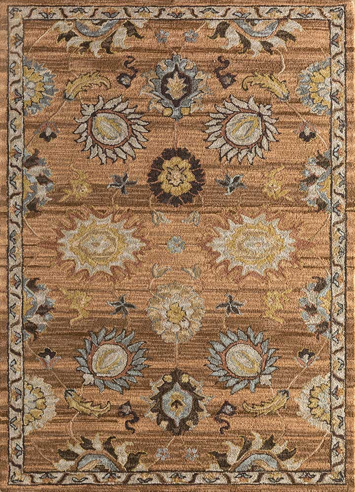 TLA-4059(CM-01) Soft Beige/Cocoa Brown beige and brown wool hand tufted Rug