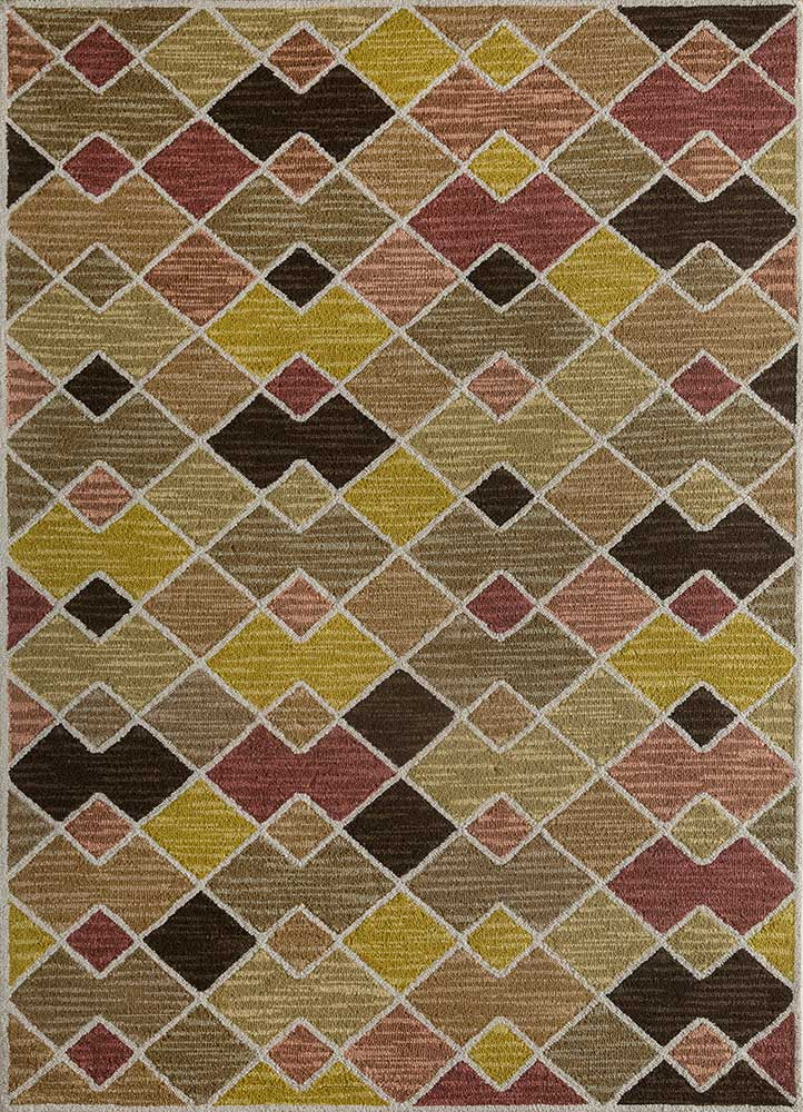 traverse beige and brown wool hand tufted Rug - HeadShot