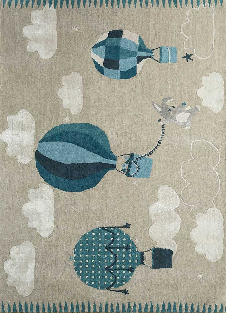 confetti ivory wool and viscose hand tufted Rug - HeadShot