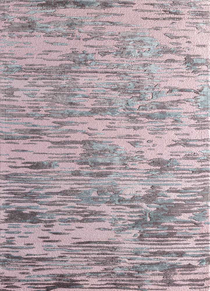 TRA-13084 Rose Smoke/Purple Ash pink and purple wool and bamboo silk hand tufted Rug