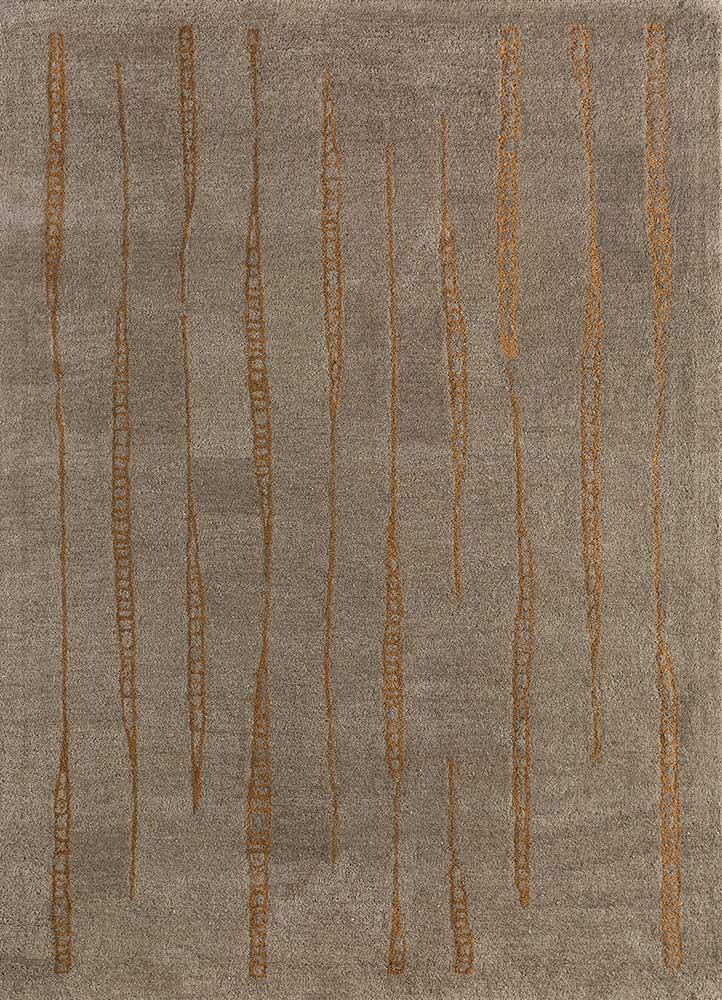 shudd beige and brown wool hand tufted Rug - HeadShot