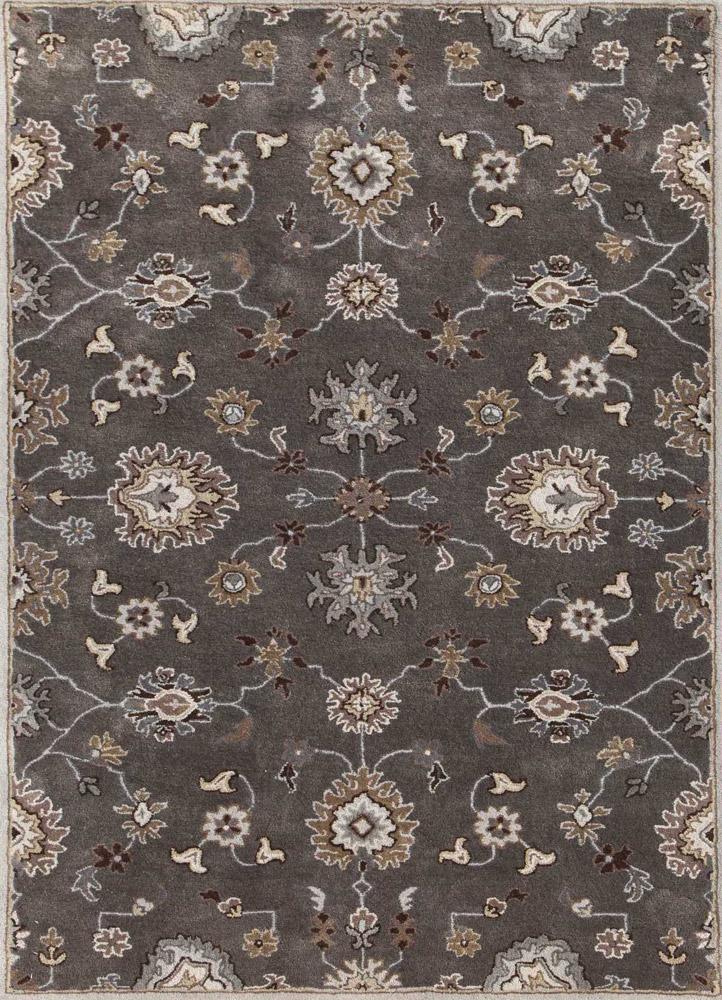 TRA-16 Liquorice/Ashwood grey and black wool hand tufted Rug