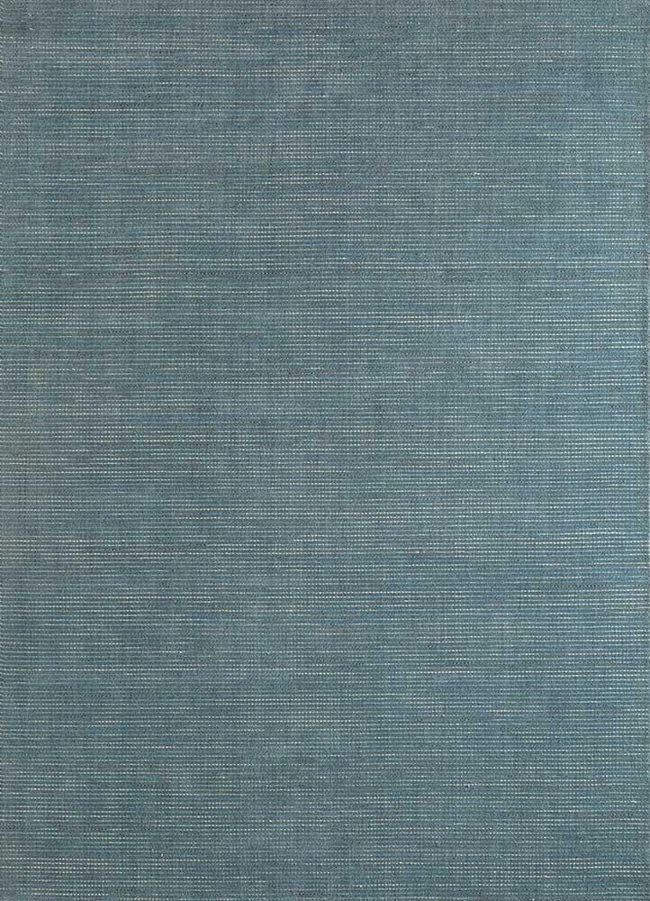 eron blue wool hand loom Rug - HeadShot