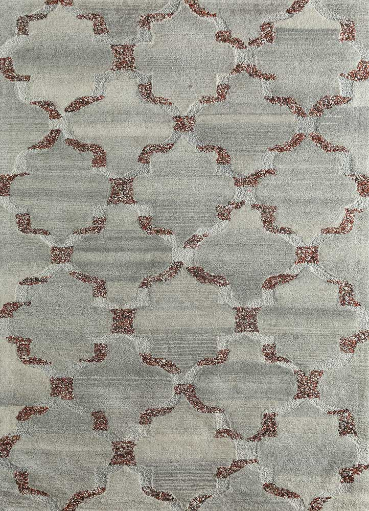 contour beige and brown wool and viscose hand tufted Rug - HeadShot