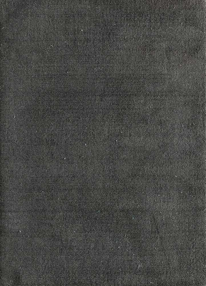 oxford grey and black polyester hand loom Rug - HeadShot