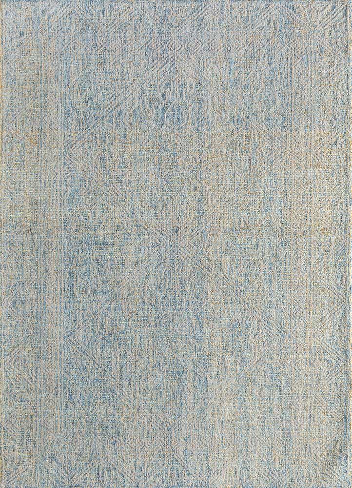 shudd blue wool hand tufted Rug - HeadShot