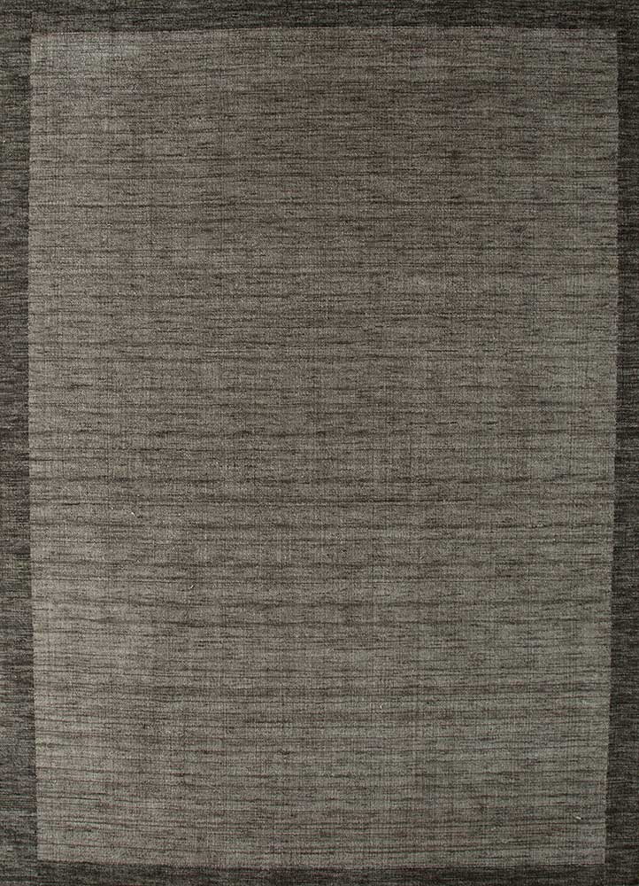 TX-1409 Black Olive/Black Olive grey and black wool hand loom Rug
