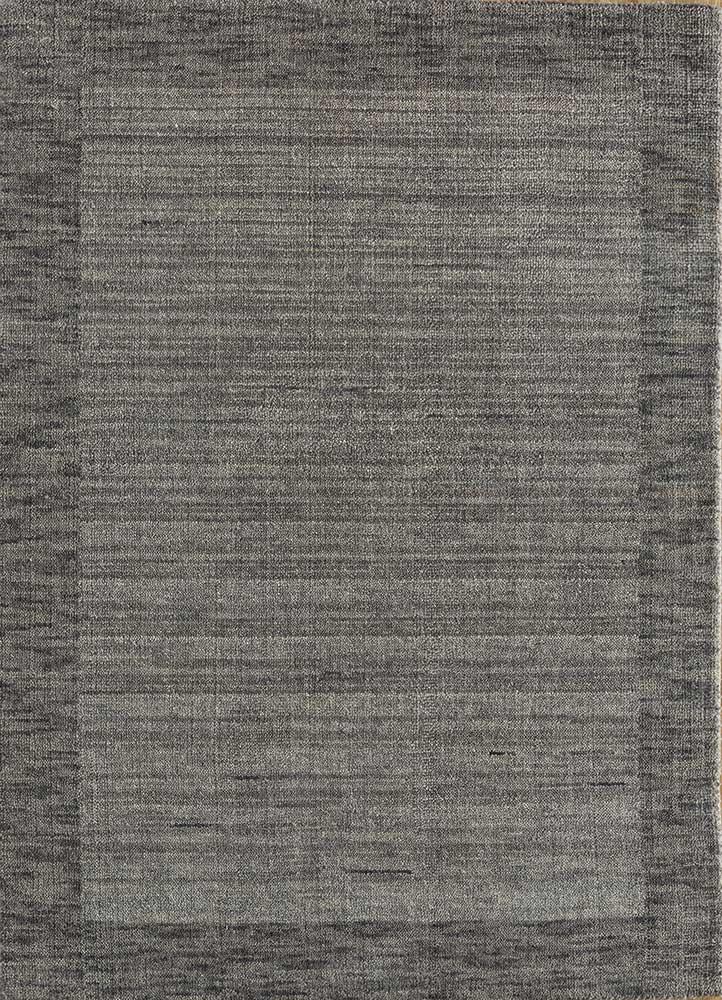 tesoro grey and black wool hand loom Rug - HeadShot