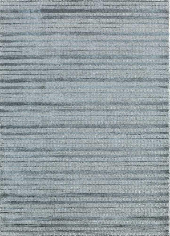 TX-1411 Nickel/Nickel grey and black viscose hand loom Rug