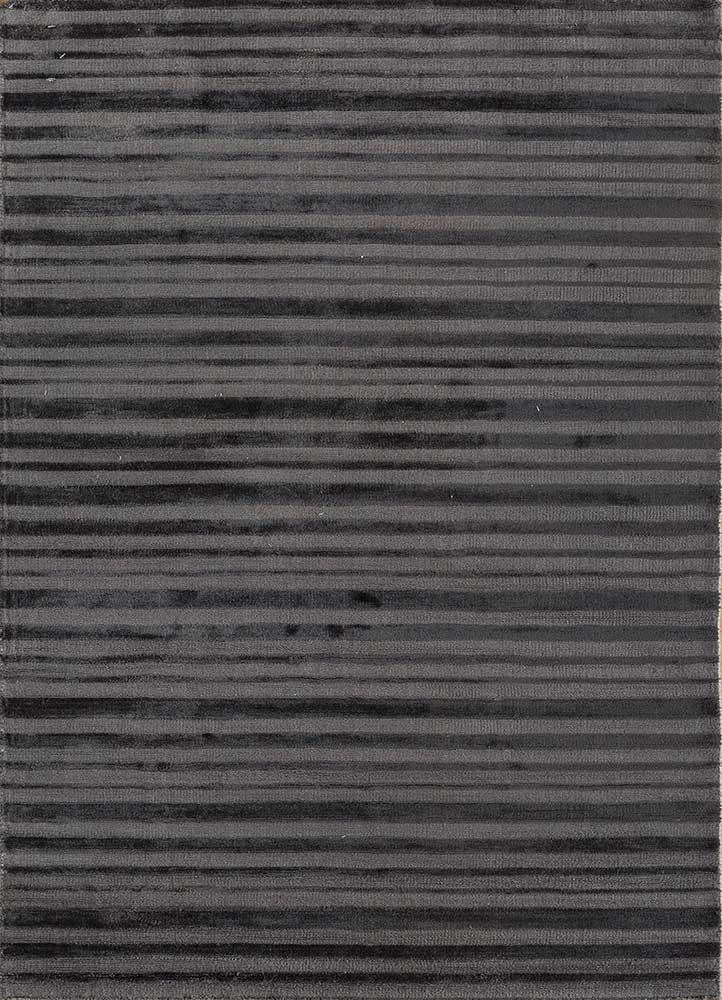 TX-1411 Black Olive/Black Olive grey and black viscose hand loom Rug