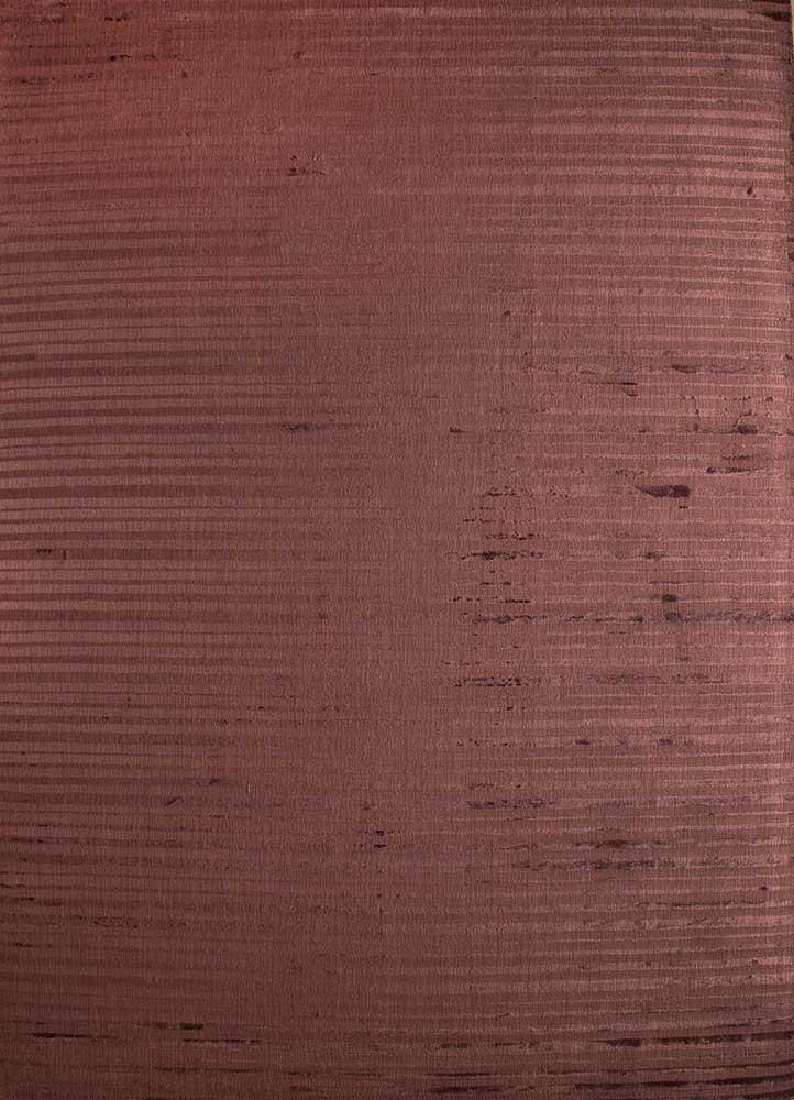 basis red and orange viscose hand loom Rug - HeadShot