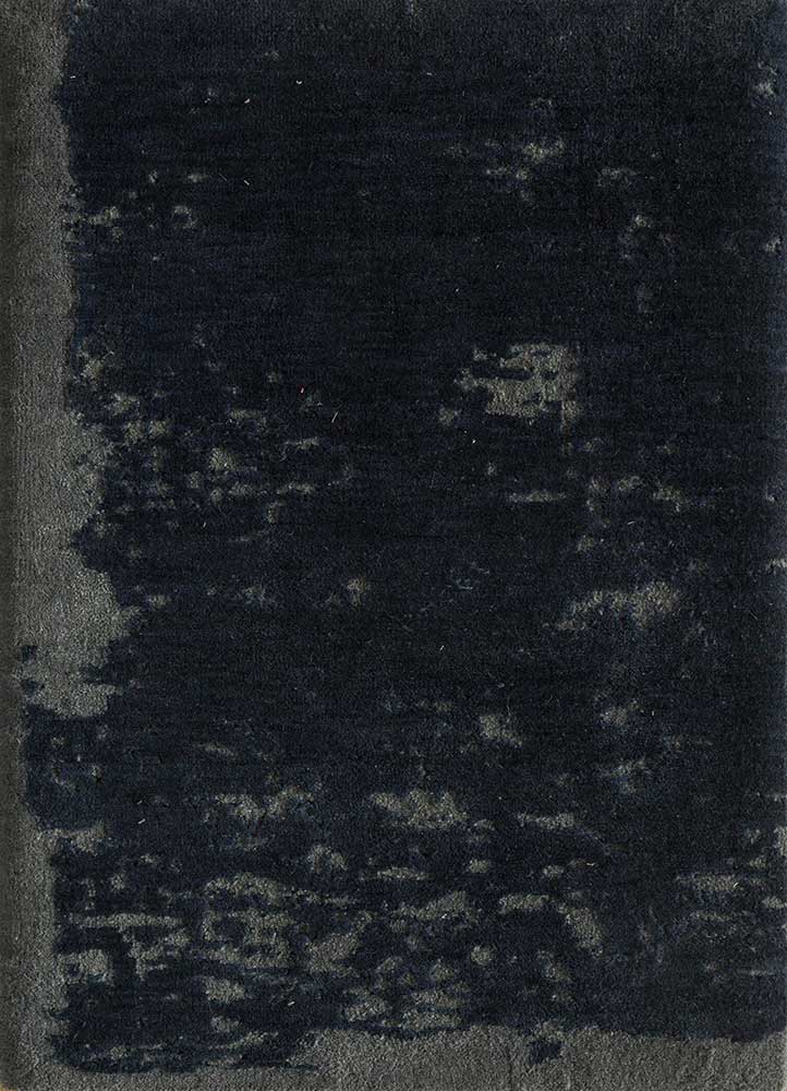 entropy blue others hand knotted Rug - HeadShot
