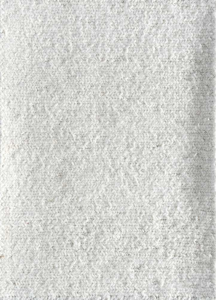 TX-1453 White/White ivory others hand knotted Rug