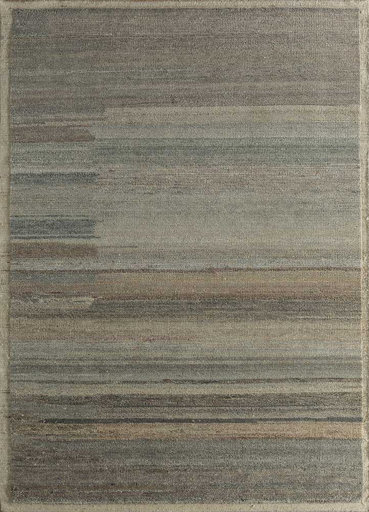 TX-1550 Natural White/Natural Beige ivory wool hand knotted Rug