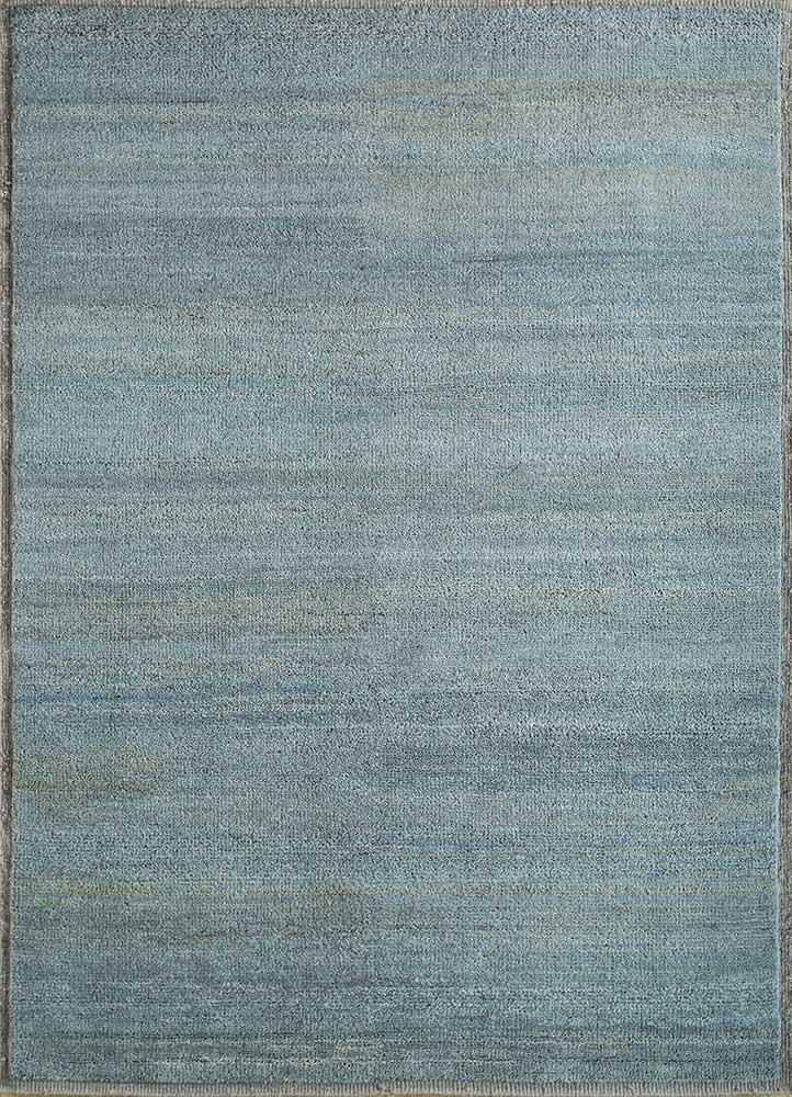 TX-1550 Blue Mirage/Medium Taupe blue wool hand knotted Rug