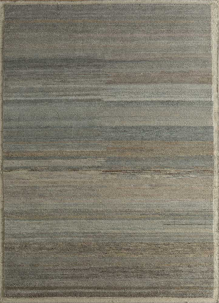 legion beige and brown wool hand knotted Rug - HeadShot