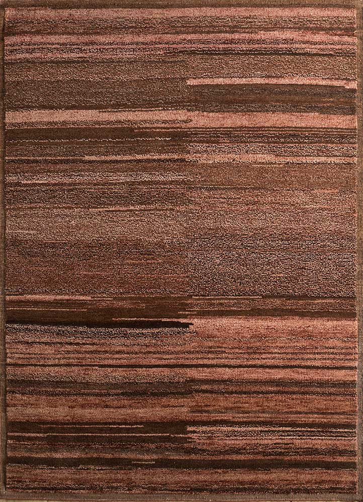 TX-1550 Red Ochre/Espresso red and orange wool hand knotted Rug