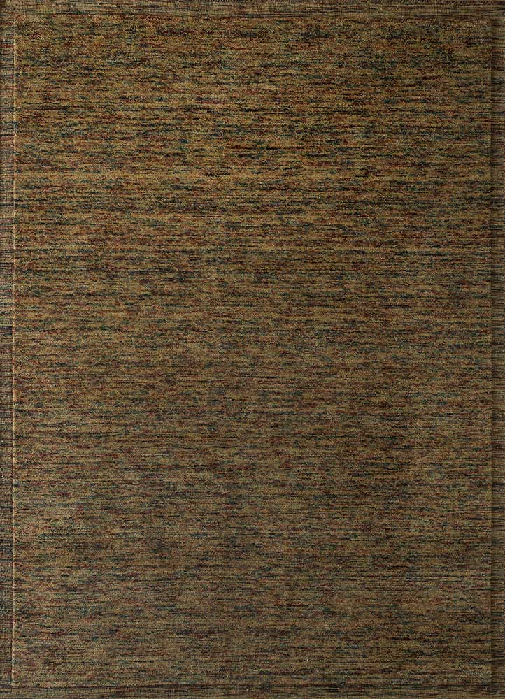 eron gold wool hand loom Rug - HeadShot