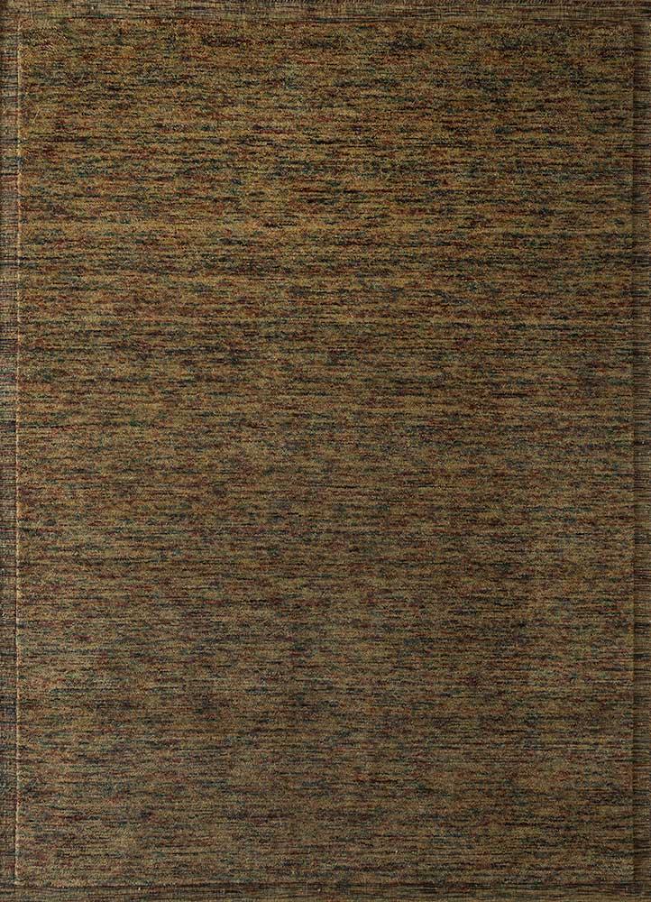 TX-1600 Turmeric/Turmeric gold wool hand loom Rug