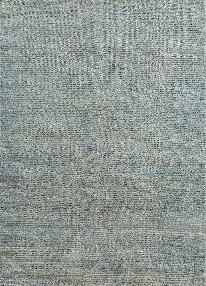 TX-1604 Blue Haze/Blue Haze blue wool hand knotted Rug