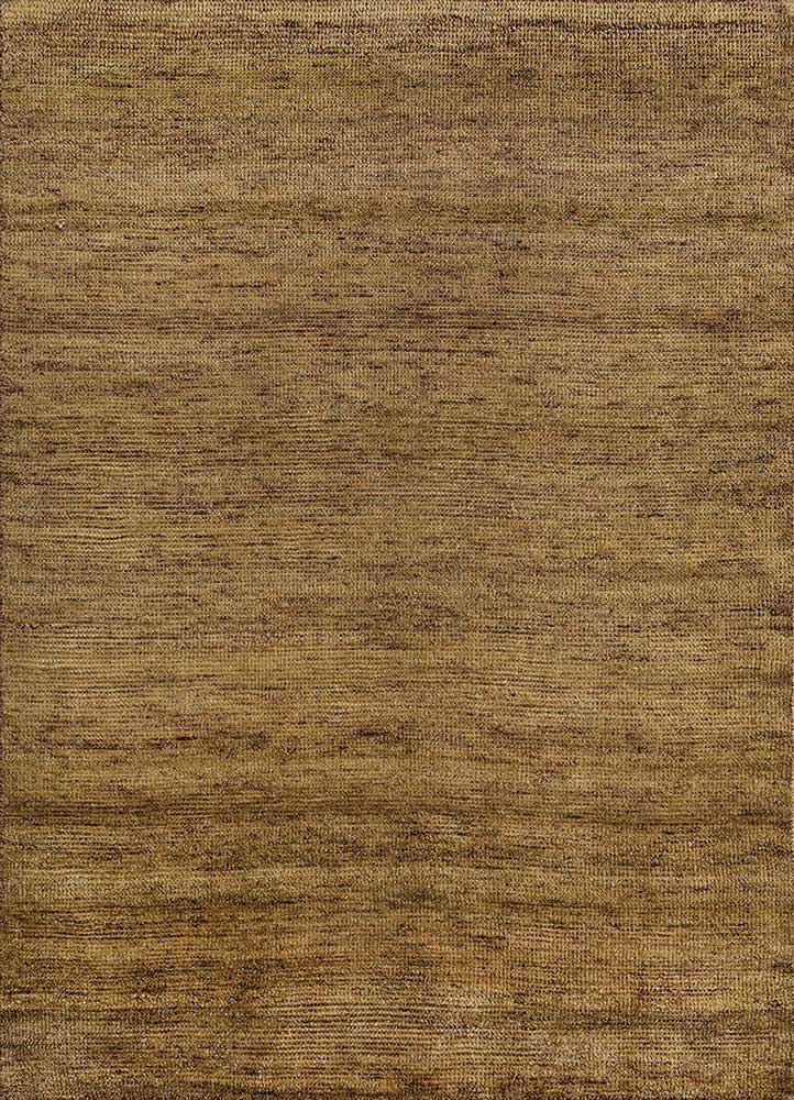 legion gold wool hand knotted Rug - HeadShot
