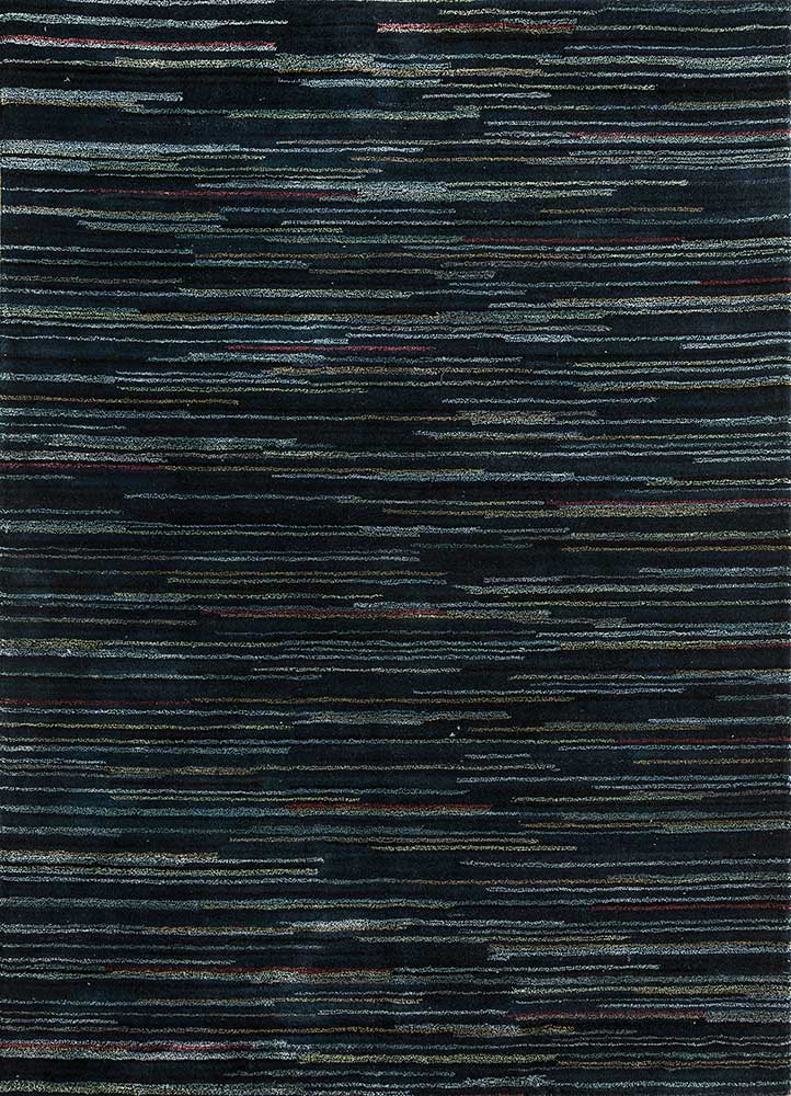 TX-1702 Liquorice/Glacier Gray grey and black wool and viscose hand tufted Rug