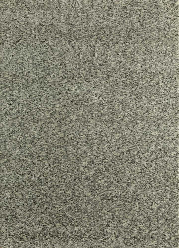 eron grey and black wool hand loom Rug - HeadShot