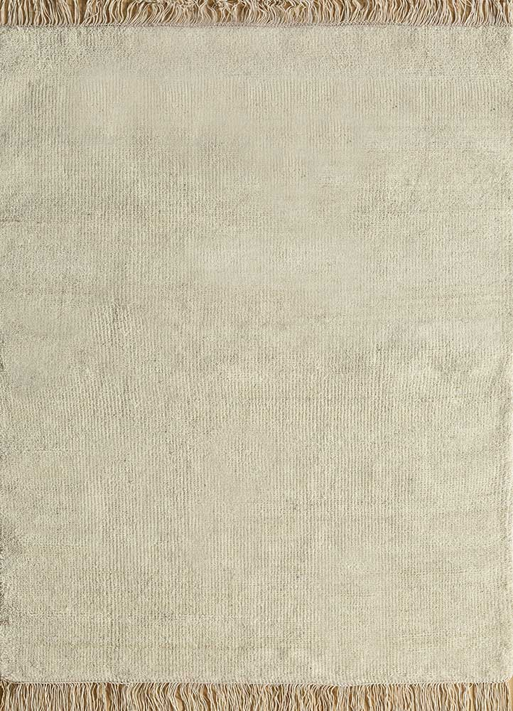 legion ivory wool hand knotted Rug - HeadShot