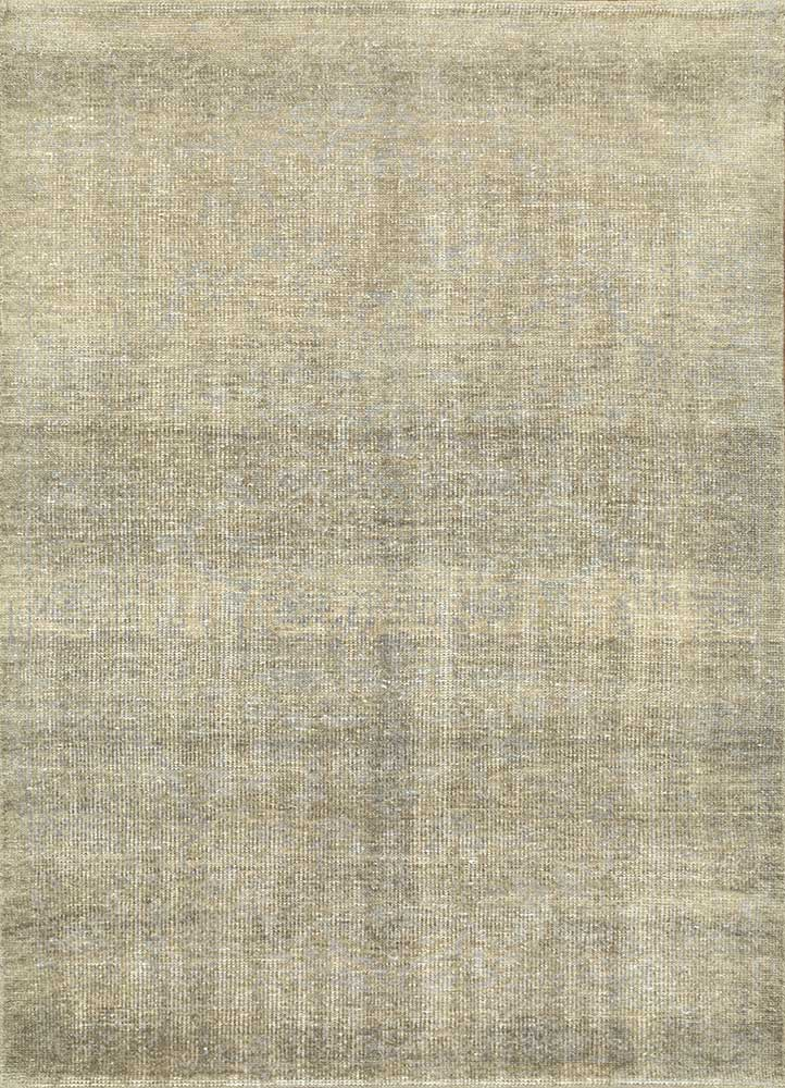 legion grey and black wool hand knotted Rug - HeadShot