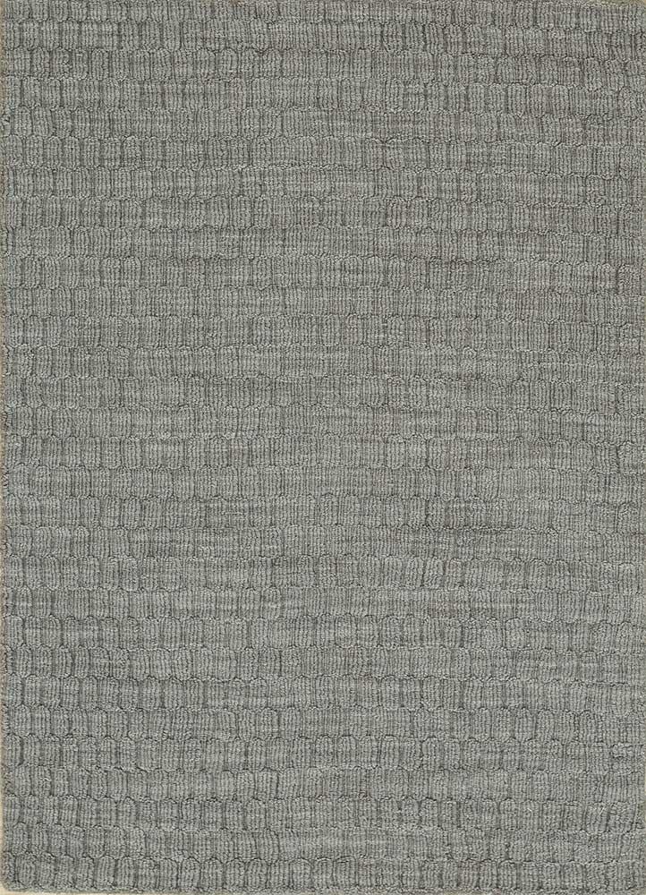 graze grey and black wool hand loom Rug - HeadShot