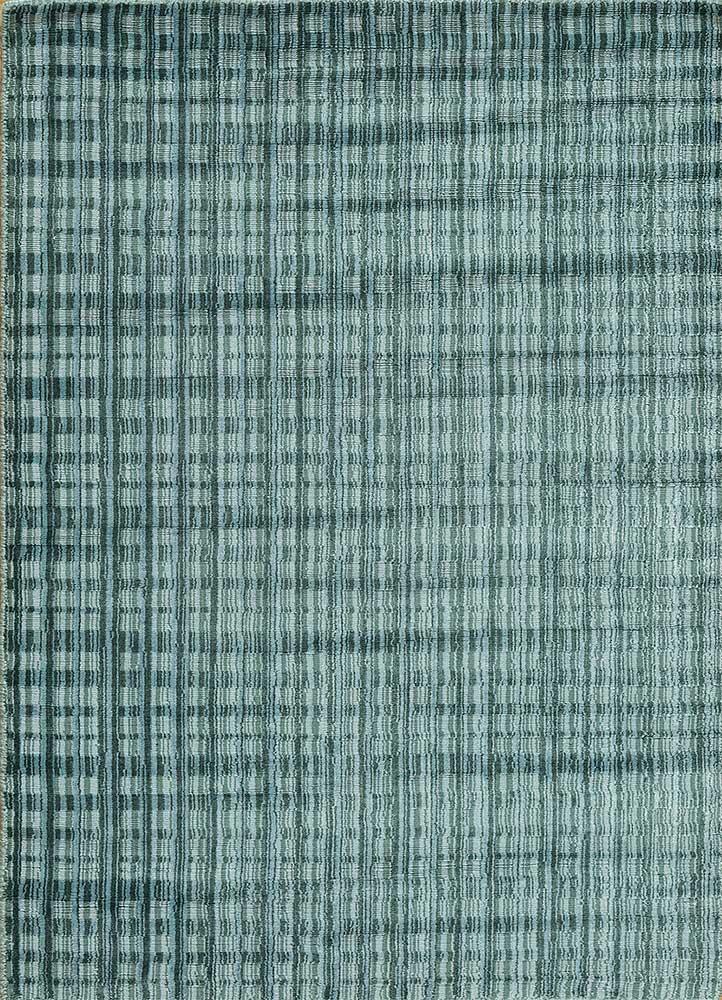 tesoro blue viscose hand loom Rug - HeadShot