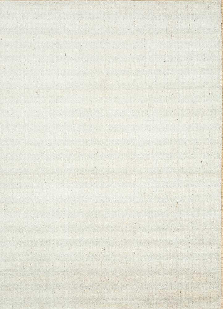 basis ivory wool and viscose hand loom Rug - HeadShot
