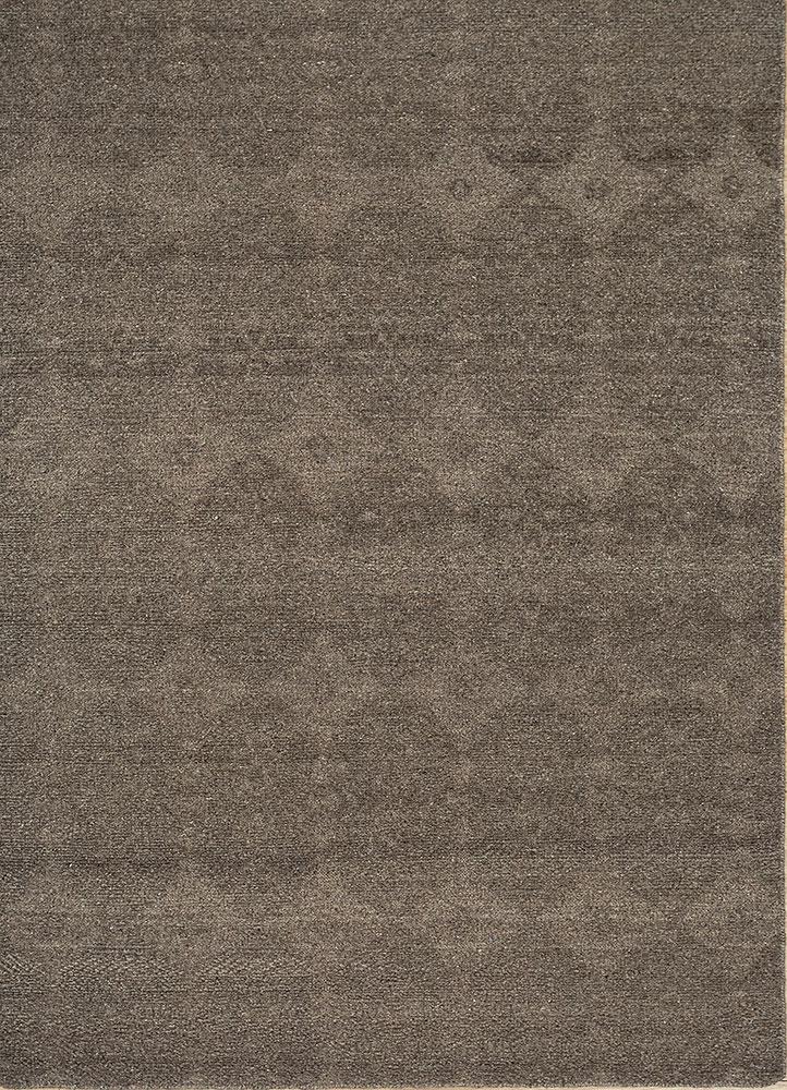 ULD-01 Light Mushroom/Light Mushroom beige and brown wool hand knotted Rug
