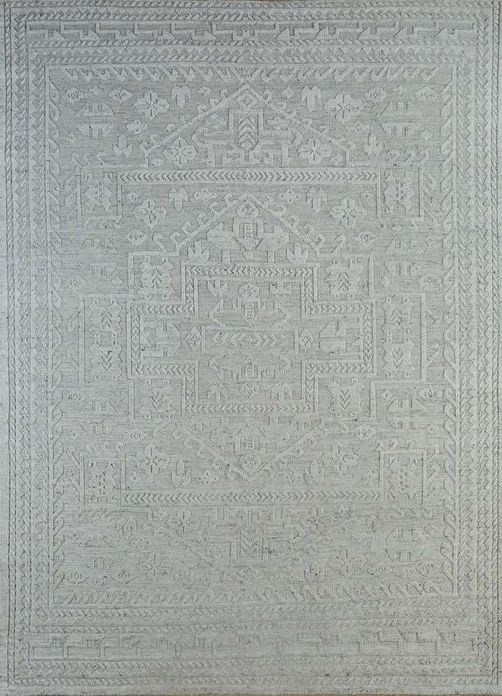 ULD-26 Natural Ivory/White Ice ivory wool hand knotted Rug