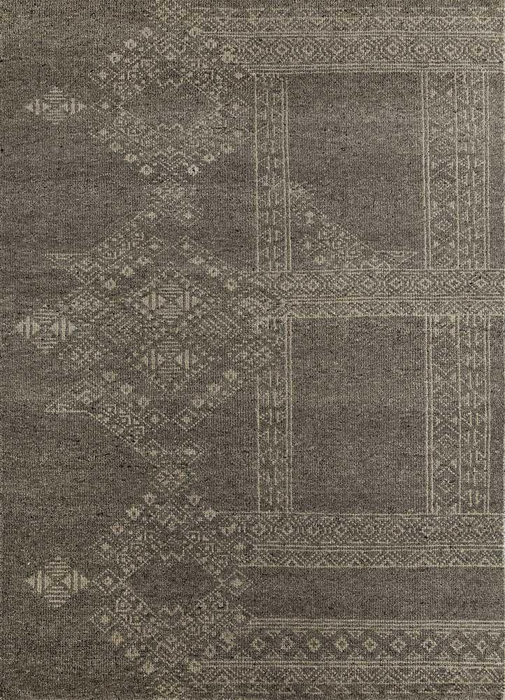 viscaya grey and black wool hand knotted Rug - HeadShot