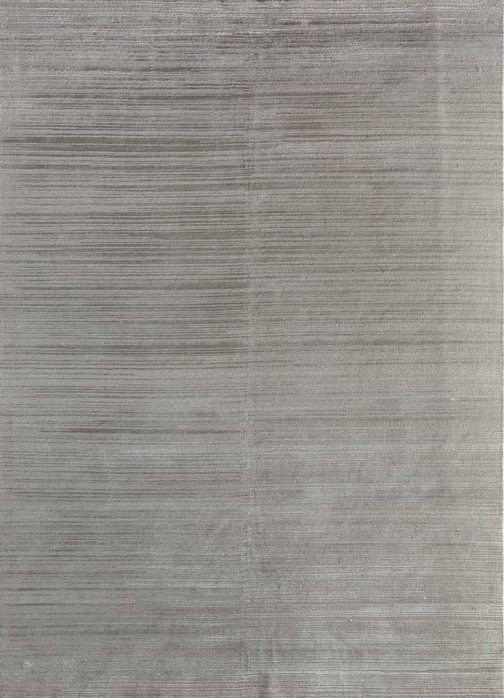 legion grey and black wool and bamboo silk hand knotted Rug - HeadShot