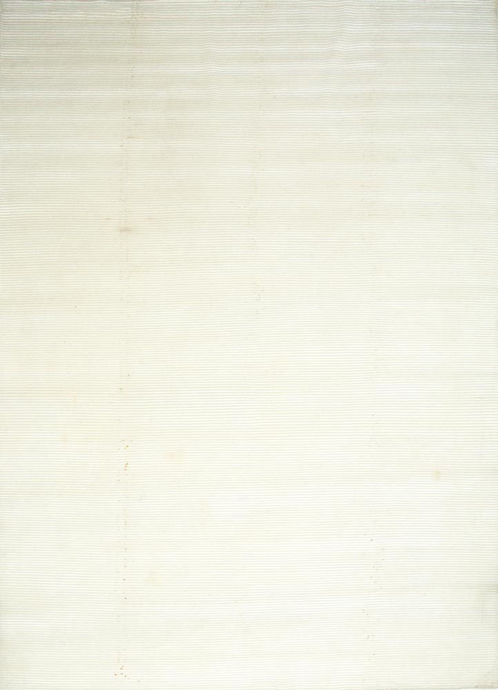 legion ivory wool and viscose hand knotted Rug - HeadShot
