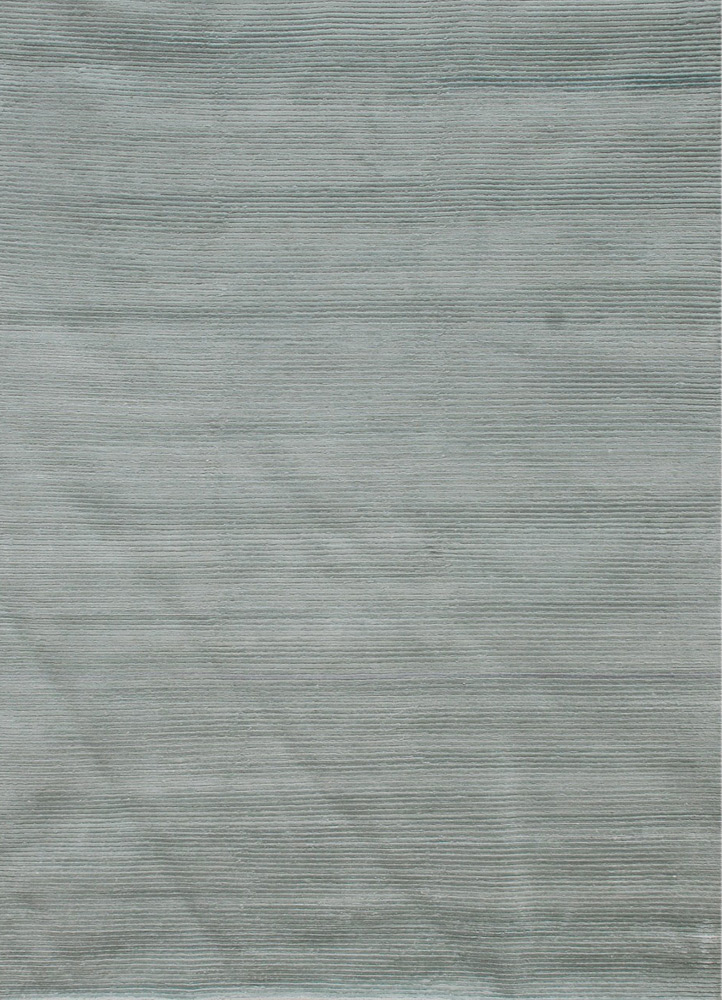 YYY-803 Soft Mint/Soft Mint blue wool and viscose hand knotted Rug