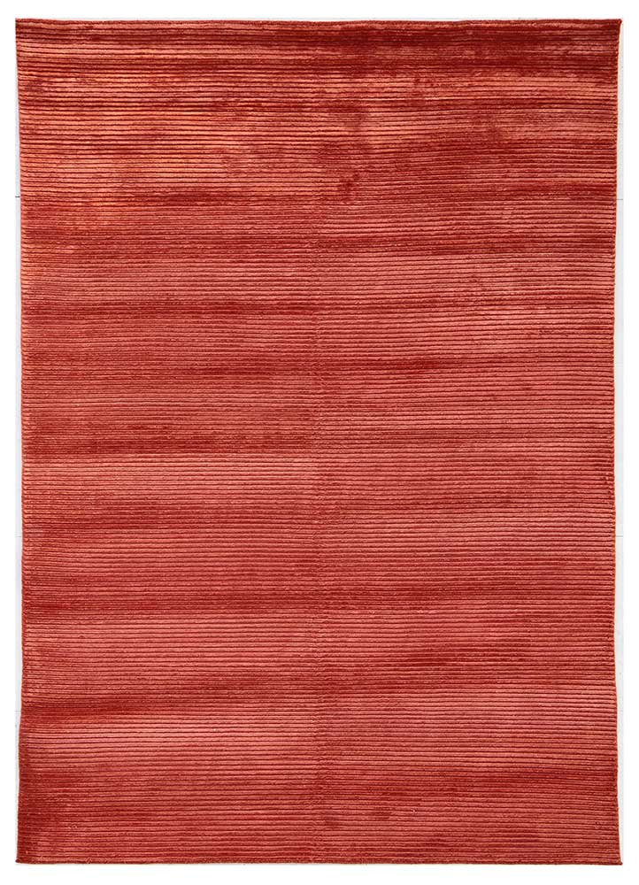 YYY-803 Tabasco/Tabasco red and orange wool and viscose hand knotted Rug