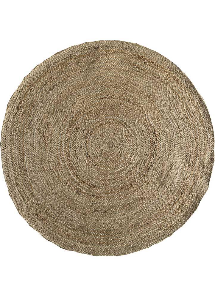 anatolia beige and brown jute and hemp jute rugs Rug - HeadShot