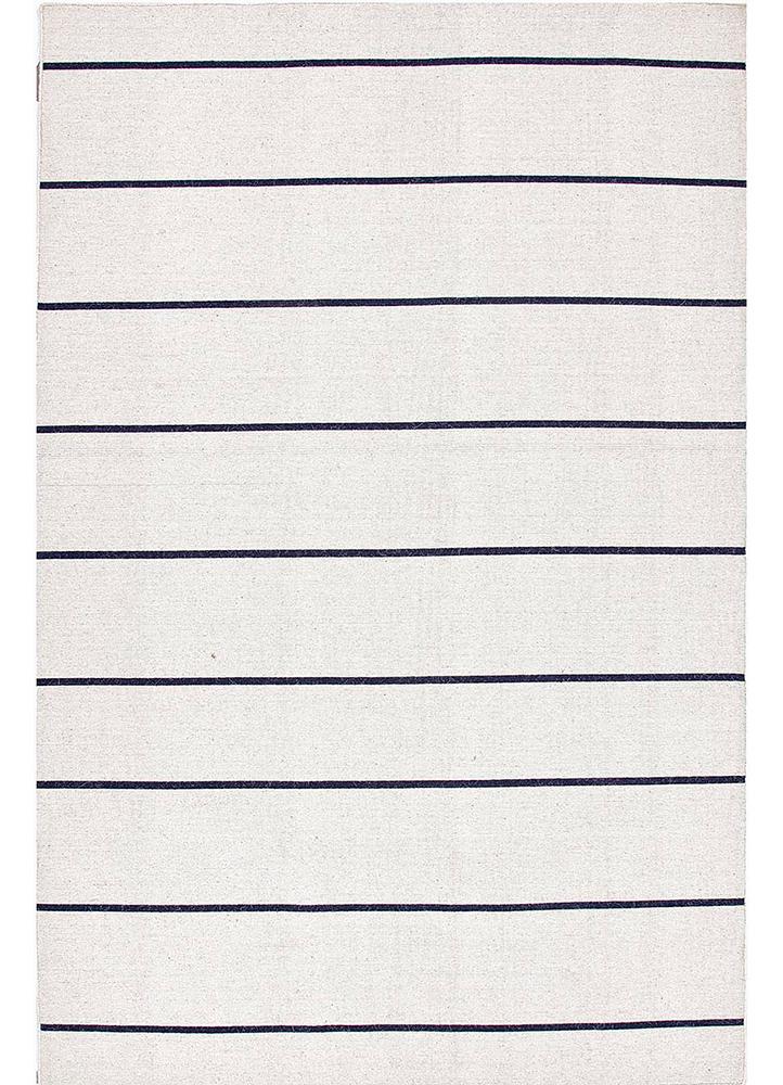 DR-119 Vanilla Ice/Medieval Blue ivory wool flat weaves Rug