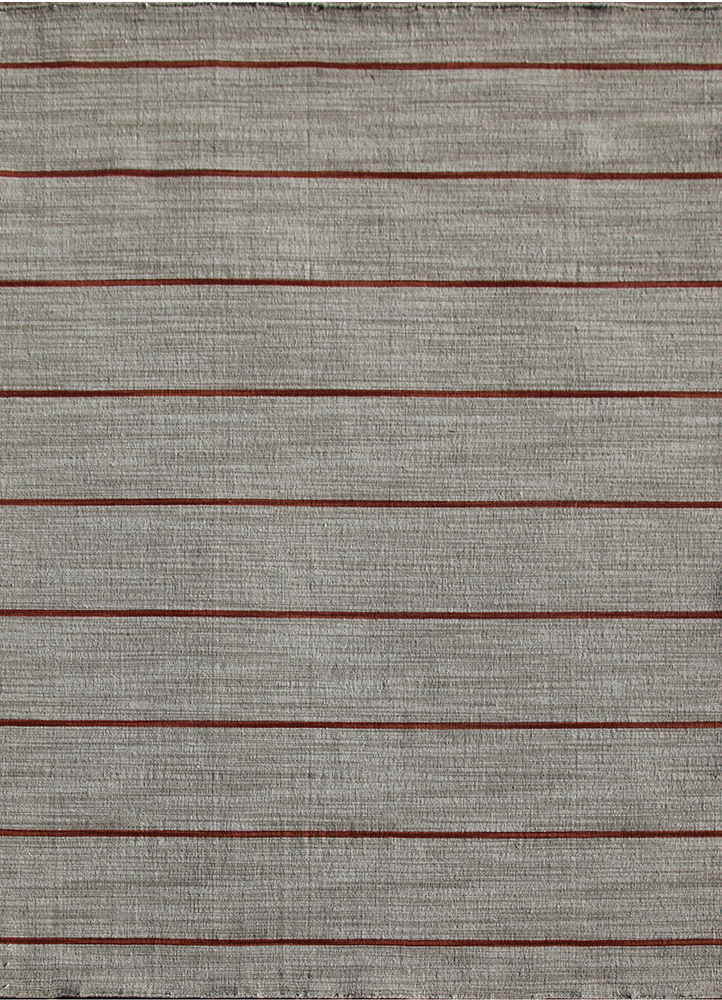 DR-119 Ashwood/Coral grey and black wool flat weaves Rug