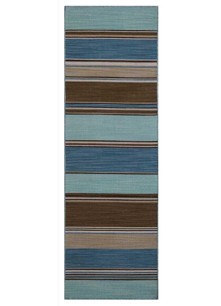 DR-122 Aqua Sky/Aqua Sky blue wool flat weaves Rug