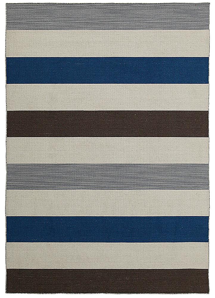DR-125 Inky Sea/Peppercorn blue wool flat weaves Rug