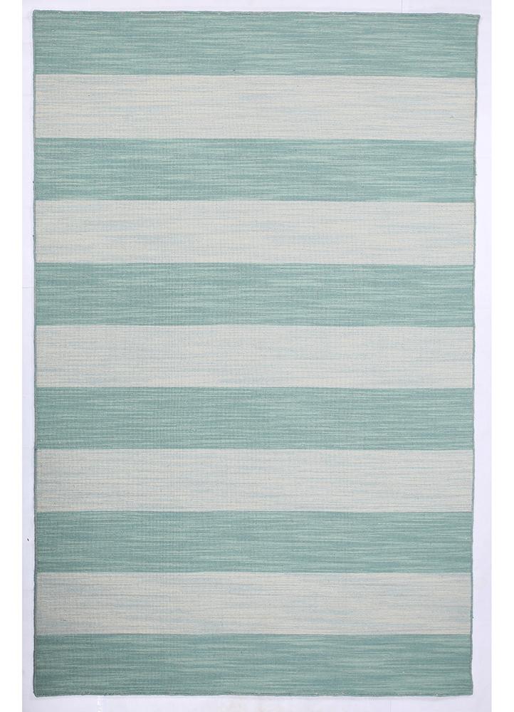 DR-125 Capri/Sea Mist Green blue wool flat weaves Rug