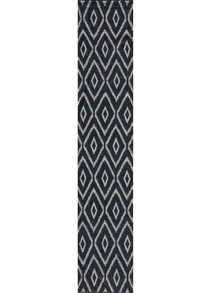 SDWL-148 Medieval Blue/Classic Gray blue wool flat weaves Rug